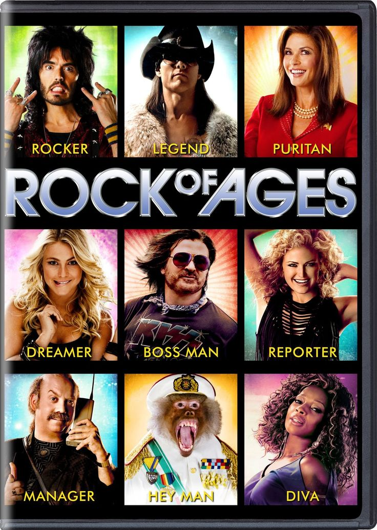 Rock of Ages (Comedy/Family) - Rock of Ages tells the story of small town girl Sherrie and city boy Drew, who meet on the Sunset Strip while pursuing their Hollywood dreams. Their rock 'n' roll romance is told through the heart-pounding hits of Def Leppard, Foreigner, Journey, Poison, REO Speedwagon, Twisted Sister and more.