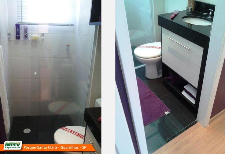 Apartamento decorado 2 dormitórios do Parque Santa Clara no o bairro Cumbica  -> Banheiro Planejado Mrv