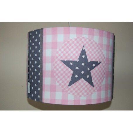 hanglamp ster - antraciet en roze #meisjeskamer www.jutenjuul.nl
