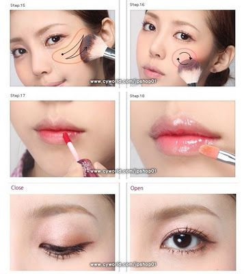 """Girl Next Door"" Korean Makeup Tutorial Picture DIY How to 