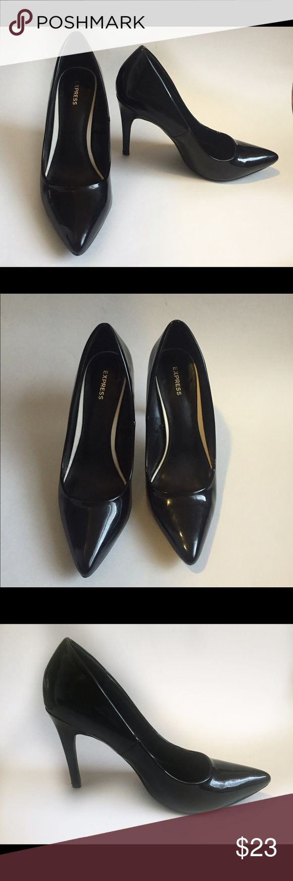Express black heels These Express black heels shoes  are without box   Size : 7   Color: black     Tags: express heels. Express shoes , express black heels, black shoes Express Shoes Heels