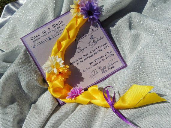 Emmêlé mariage Invitation - Rapunzel inspirée de mariage Invitation - fête d