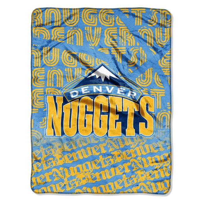 Denver Nuggets NBA Redux Raschel Throw.  Visit SportsFansPlus.com for Details.
