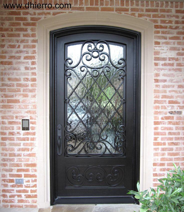ID 302-204 Single Iron Door with Kickplate