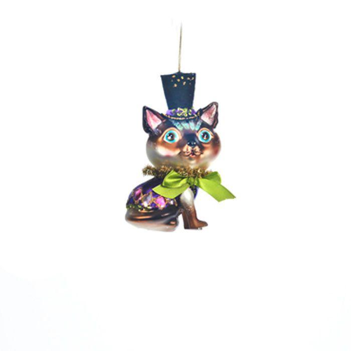 Goodwill Weihnachtsschmuck Katze mit Zylinder Weihnachtsbaumschmuck | eBay