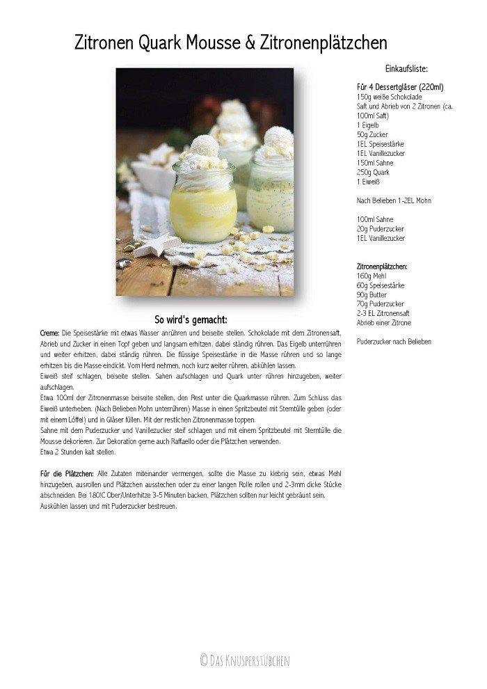 Zitronen Quark Mousse