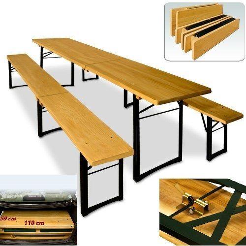 Garden Table Bench Wooden Folding Patio Furniture Set Large Camping Dining Set  #DBA