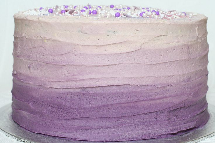 Purple Ombre Cake By Hannah Loves Cake Sheet Cake