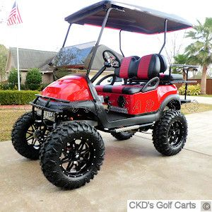 Custom Lifted Golf Carts and Accessories from CKDgolfcarts.com
