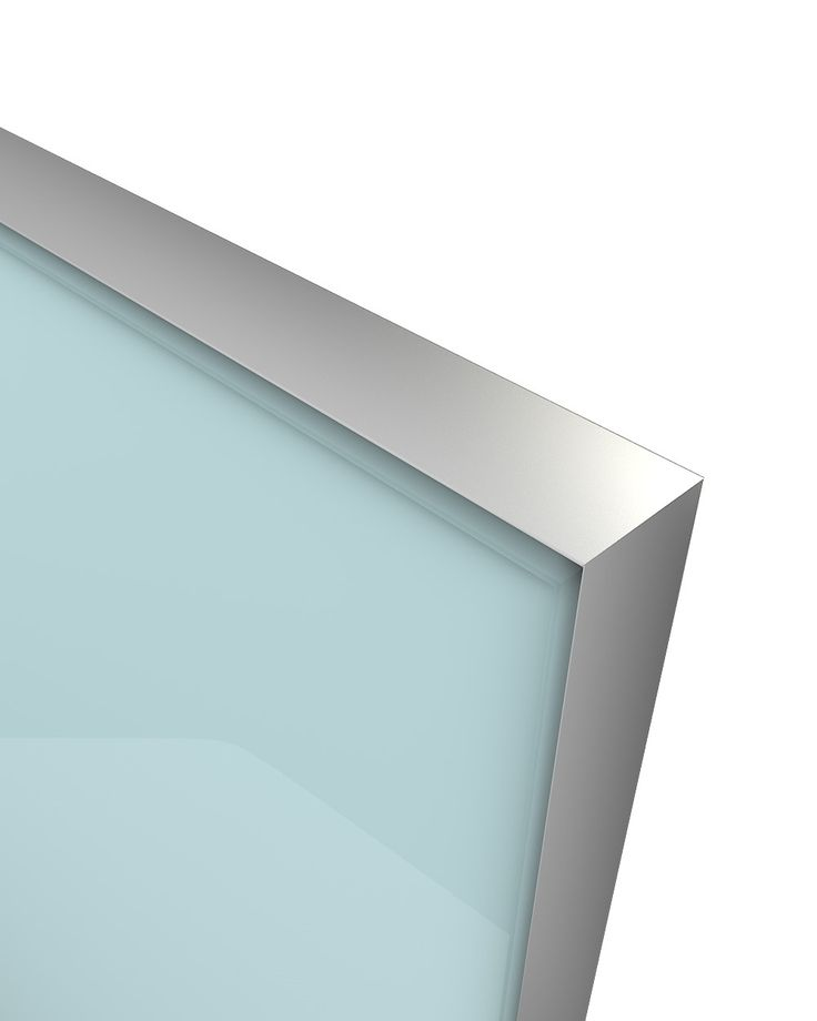 Glass Door Z-18,aluminum frame C-0, glass color Ref 1603 The Z-18 design belongs to the group of new models of glass doors. Made from an anodized aluminum frame where a colored glass is welded externally and is elegantly sharpened. Designed in parallel with the Z-21 model creating an innovative, entirely minimalistic combination. Its look , gives the compositions used, the image of an entirely glass made construction without any optical influence by other materials.