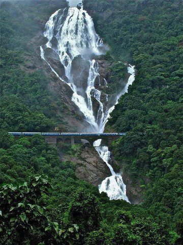#Индия, #Гоа / India, Goa, Dudhsagar Falls