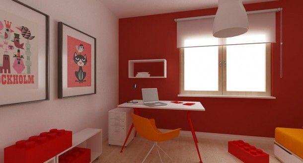 pokój Konrada widok na biurko