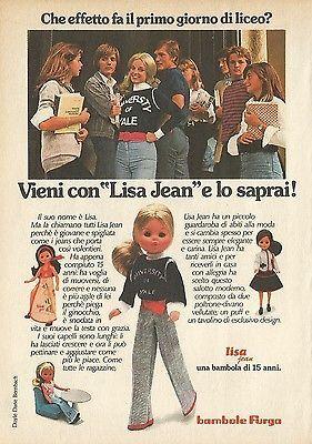 X4693 Bambole Furga - LISA JEAN - Pubblicità 1975 - Advertising