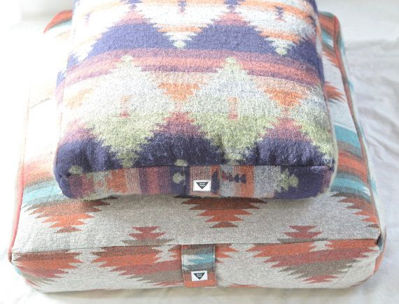 Jumbo Meditation Cushions are sewn with vibrant fabrics. Each is hand-stuffed with kapok - an extremely soft, natural fiber - which gives the cushions