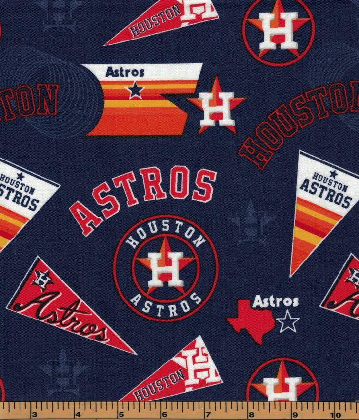 Houston Astros Baseball Fabric Retro Houstons Astros