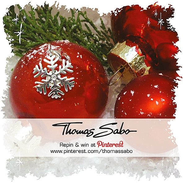 One lucky winner will be drawn on December 4th, 2012! Important: Your facebook or twitter account must be linked to your Pinterest profile! Terms and conditions: http://images.thomassabo.com/www/2/2012/11/TC-Pinterest-Xmas-Sweepstake.pdf