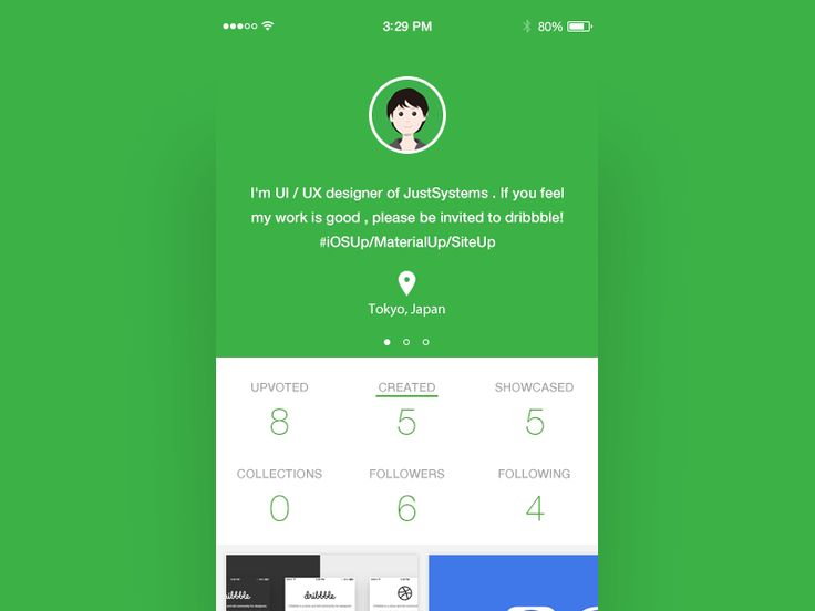 Uplabs User Profile Concept