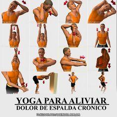 Ejercicios de Yoga para aliviar el #DolordeEspalda Crónico.