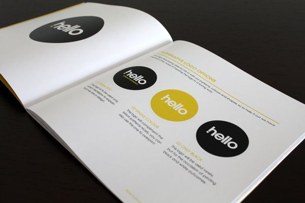 Hello Design Conference Brand Standards Manual by Raewyn Brandon, via Behance