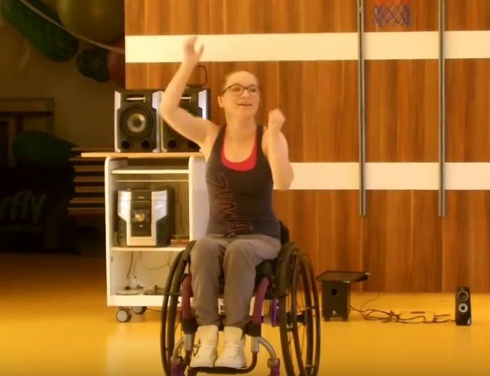 Wheelchair zumba: www.parazumba.eu.  >>> See it. Believe it. Do it. Watch thousands of spinal cord injury videos at SPINALpedia.com