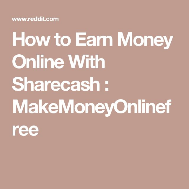 How to Earn Money Online With Sharecash : MakeMoneyOnlinefree