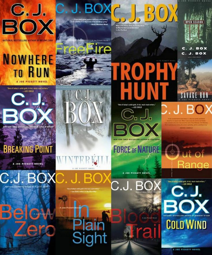 "C.J. Box's ""Joe Pickett"" series. These are fun books. Keith and I both find them very entertaining. I caught myself mentally editing the first few books in the series, but then just got caught up in the stories of Joe Pickett and his family. JA"