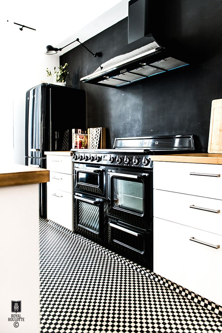 Black Smeg kitchen appliances
