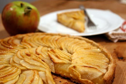 Recipe: Tarte Aux Pommes...which translates into apple tart. The apple ...