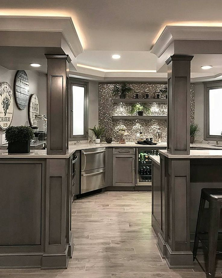 """4,497 Likes, 43 Comments - Grace R (@lovefordesigns) on Instagram: """"How stunning is this basement kitchen? I'm also loving her photography skills @sumhouse_sumwear…"""""""