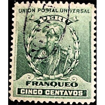 Peru, Francisco Pizarro Stamp (Spanish conquistador), c.1896 Used fine