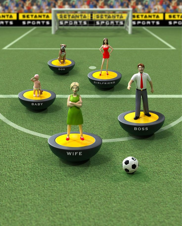 3D illustration of subbuteo game
