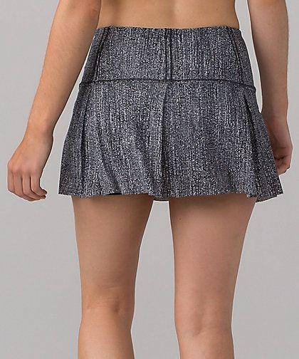 Lululemon Lost In Pace Skirt Regular & Tall Color:  Salt Alpine White Black  Size:  2-12  Price:  68.00 Released:  2017