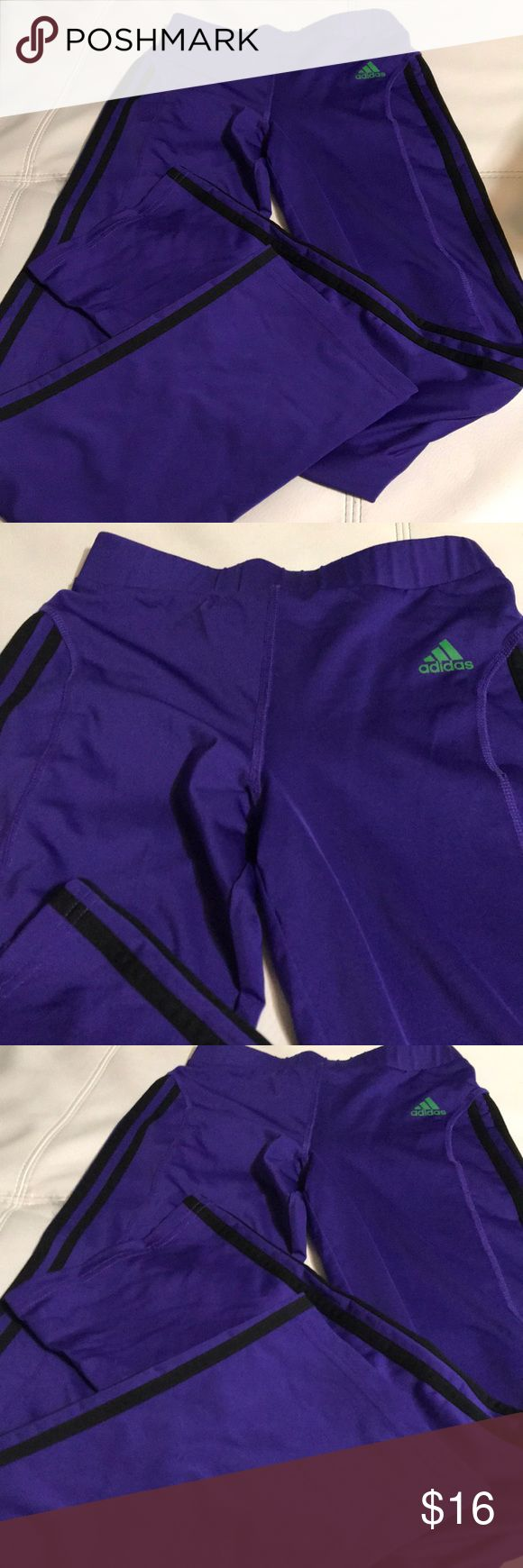 ADIDAS GIRL YOGA PANTS Beautiful pants in perfect condition, made of polyester and spandex adidas Bottoms Sweatpants & Joggers