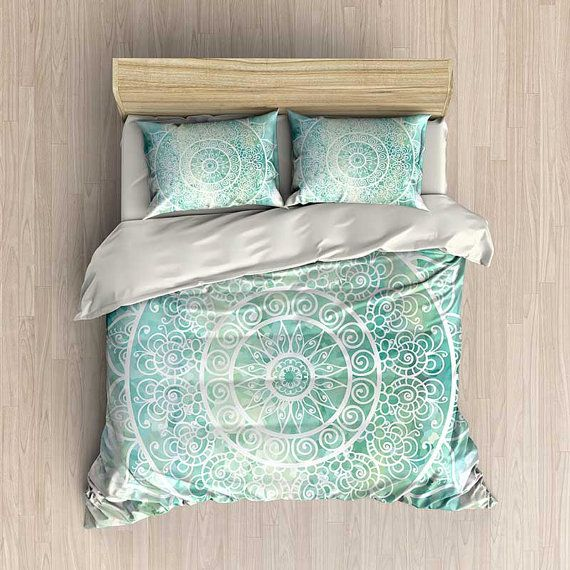 Best 25 mint green bedding ideas on pinterest bedroom for Housse de couette verte