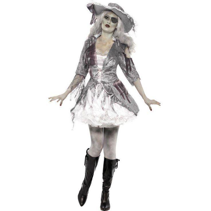 Geisterschiff Piratenbraut Kostüm für 39,99€. Zombie-Optik, Verzierungen aus Tüll und Spitze, Weibliche Passform bei OTTO