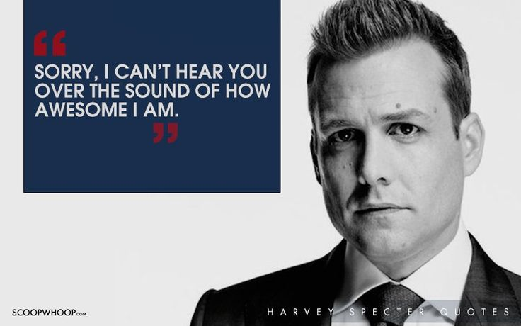 30 Witty One-Liners By Harvey Specter That Are The Secret To His Success