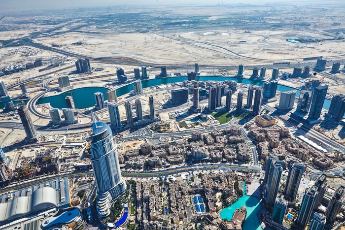 This is the view from the top of Burj Khalifah,the tallest building in the world. #MKdubai #BurjKhalifah  http://www.songofstyle.com/2014/12/dubai-michael-kors.html