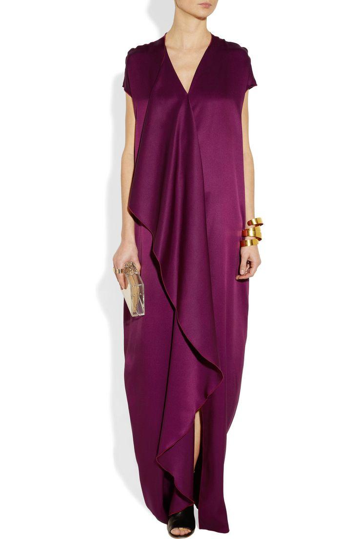 The Row Priston silk-satin maxi dress: Minimal & Classic | Nordhaven Studio