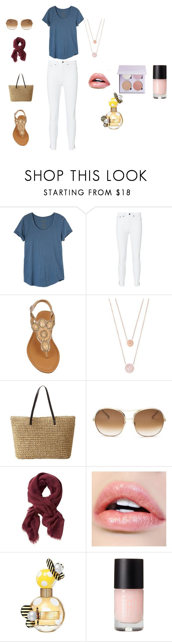 """Summer Picnic Outfit"" by perezbarrios on Polyvore featuring RVCA, rag & bone, Michael Kors, Chloé, Banana Republic and Marc Jacobs"