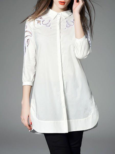 Pierced Cotton Tunic