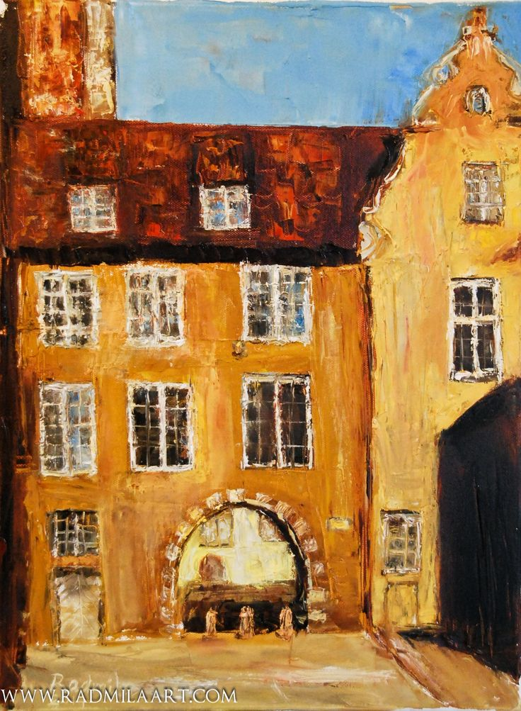 "Oil painting ""Swedish Gate, old Riga"", 30*40 cm. Artist - Radmila Filimonova"