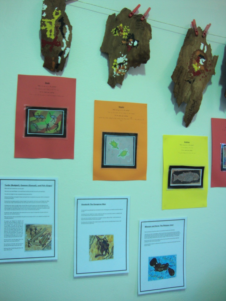replica aboriginal bark paintings
