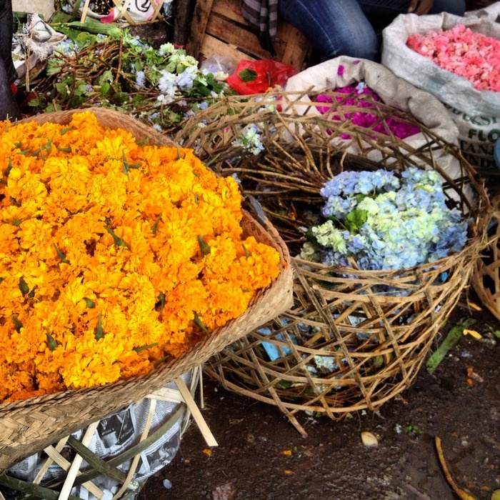 Colorful flowers are what make this Central Market very interesting. Photo by Electra Gilies.