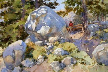 Trailside by Mike Kowalski Watercolor ~ 12 x 18