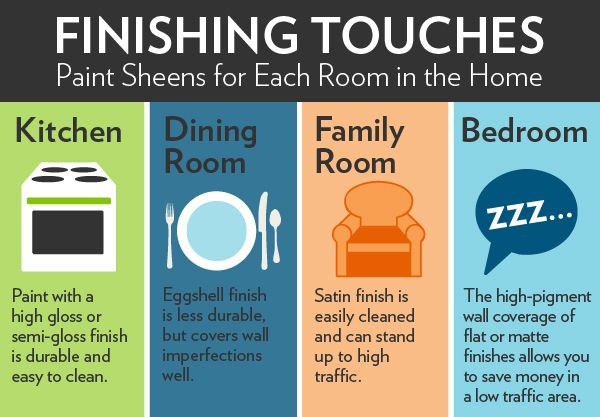 Paint sheen infographic