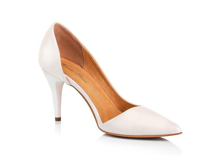 Классические бежевые свадебные туфли 2016 7см