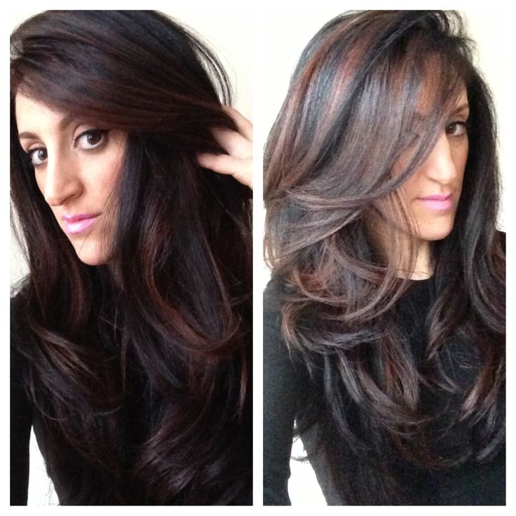 1000 ideas about brunette haircut on pinterest curling thin hair espresso base with strategically placed cinnamon peekaboo highlights by wan pmusecretfo Image collections