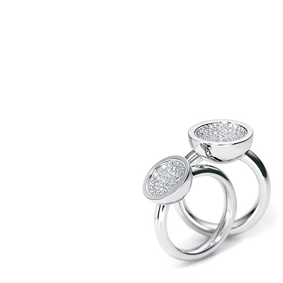 www.ORRO.co.uk - Henrich & Denzel - Cielluna Diamond Rings - ORRO Contemporary Jewellery Glasgow
