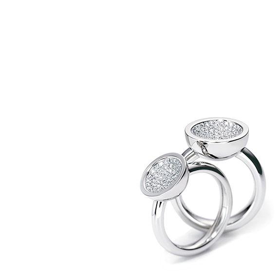 Henrich & Denzel - Cielluna Diamond Rings - ORRO Contemporary Jewellery Glasgow - www.orro.co.uk