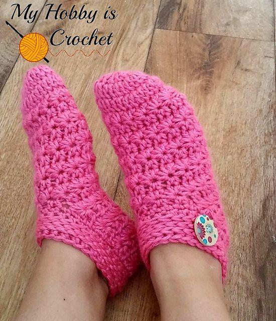 Ravelry: Starlight Women Slippers - free pattern by Kinga Erdem